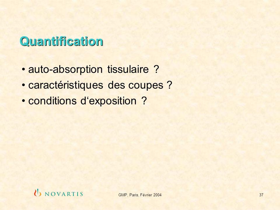 Quantification auto-absorption tissulaire