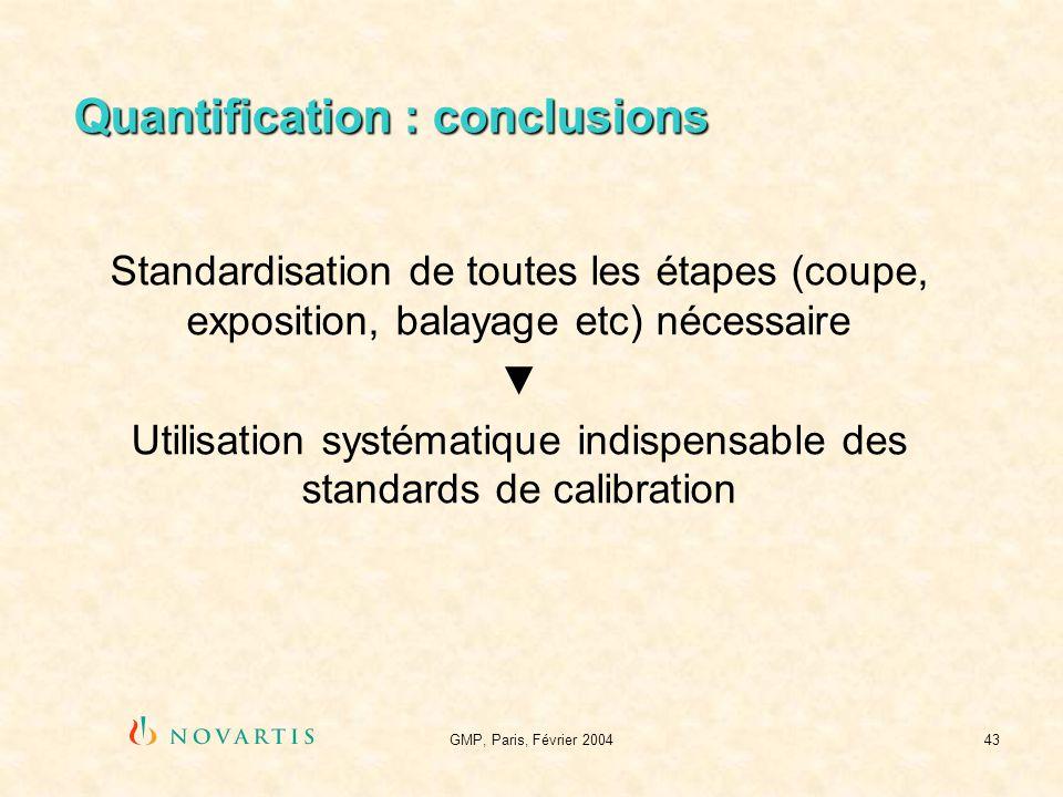 Quantification : conclusions