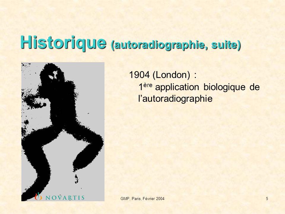 Historique (autoradiographie, suite)
