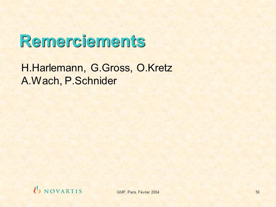 H.Harlemann, G.Gross, O.Kretz A.Wach, P.Schnider