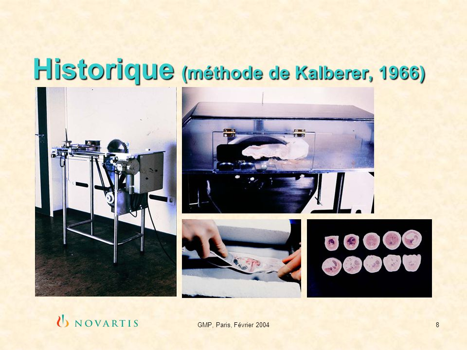 Historique (méthode de Kalberer, 1966)