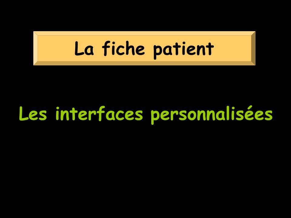Les interfaces personnalisées
