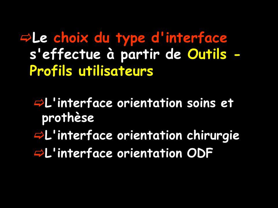 Le choix du type d interface s effectue à partir de Outils - Profils utilisateurs