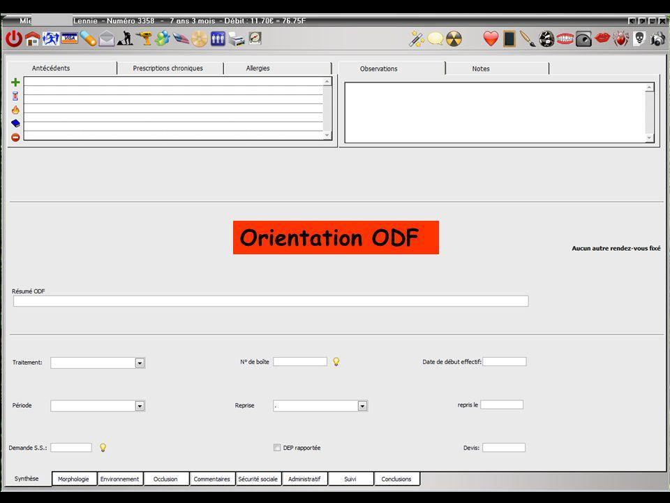Orientation ODF
