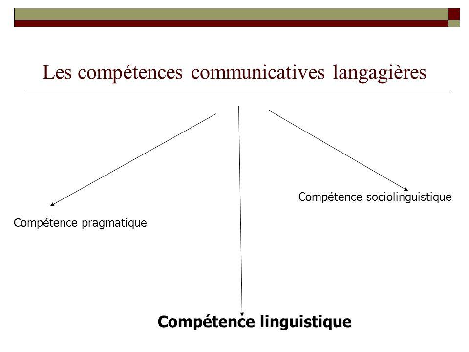 Les compétences communicatives langagières
