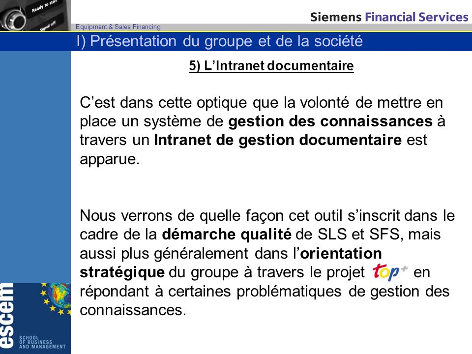 5) L'Intranet documentaire
