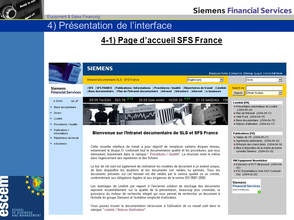 4-1) Page d'accueil SFS France