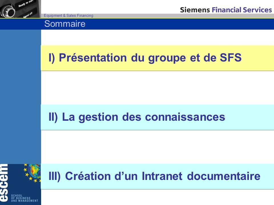 I) Présentation du groupe et de SFS