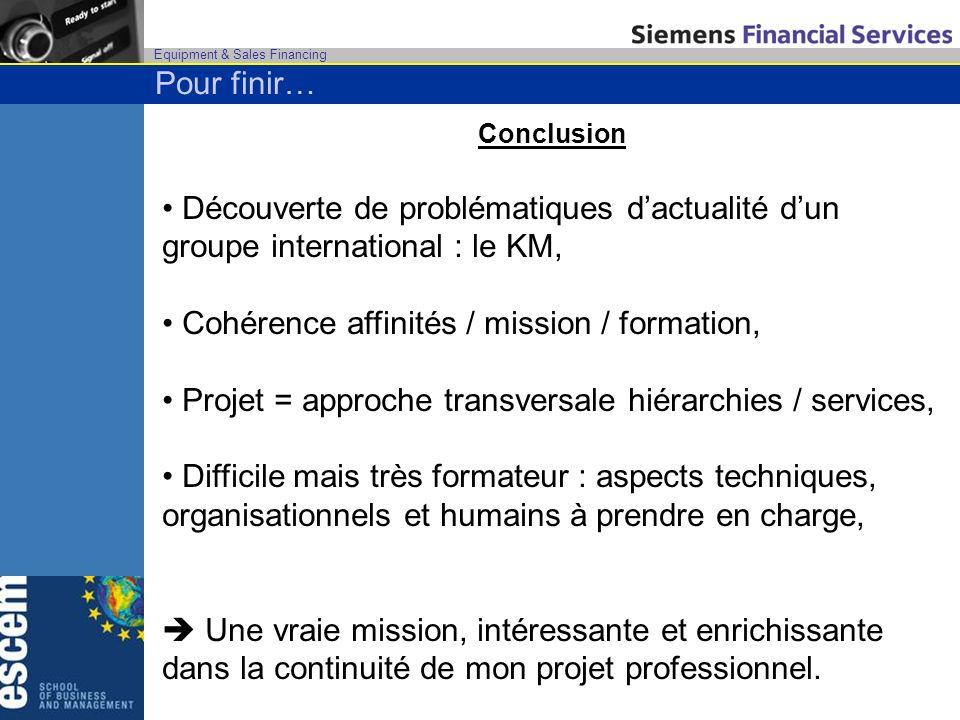 Cohérence affinités / mission / formation,