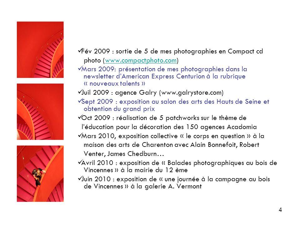 Fév 2009 : sortie de 5 de mes photographies en Compact cd