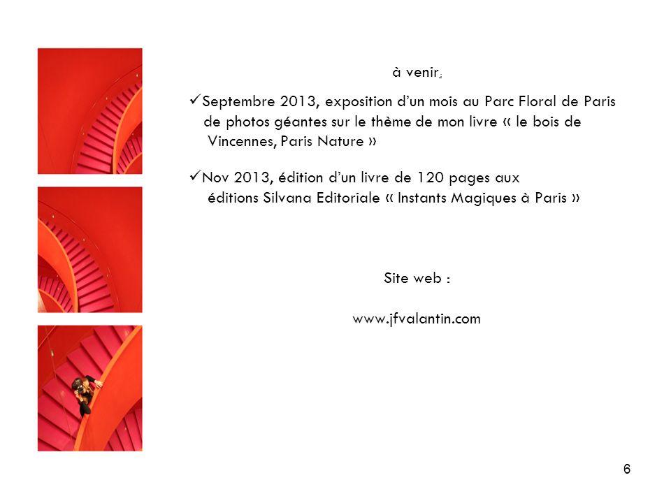 Septembre 2013, exposition d'un mois au Parc Floral de Paris