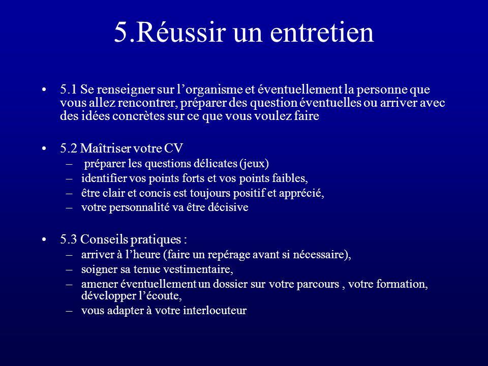 5.Réussir un entretien