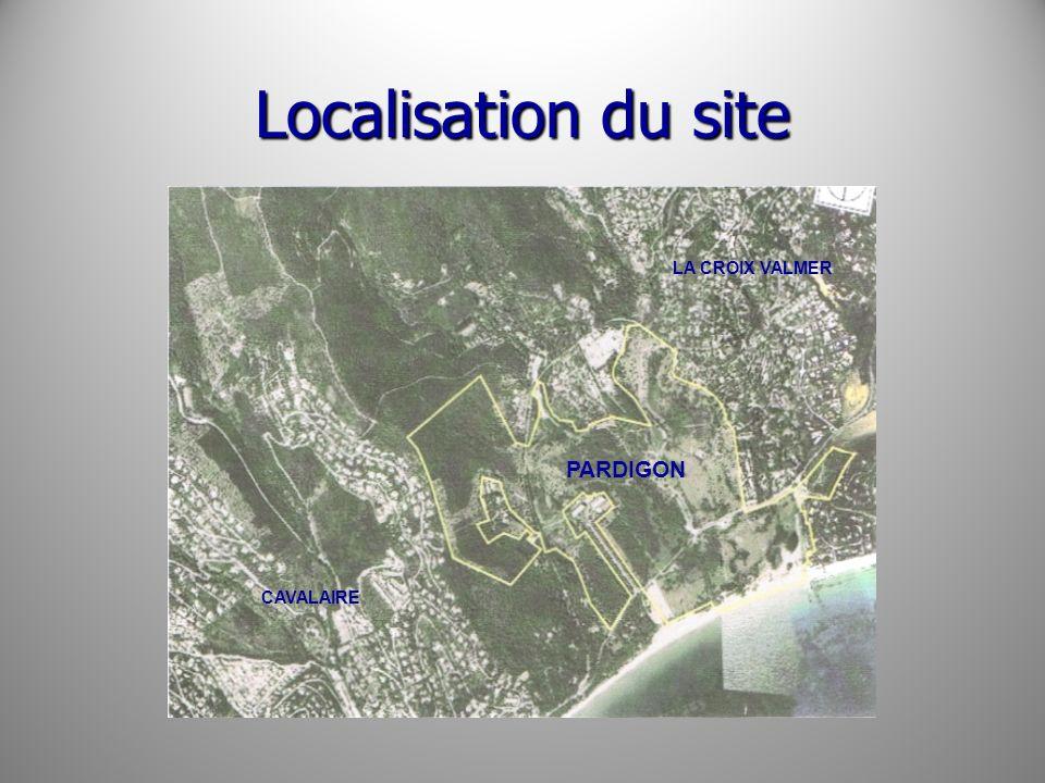 Localisation du site LA CROIX VALMER PARDIGON CAVALAIRE