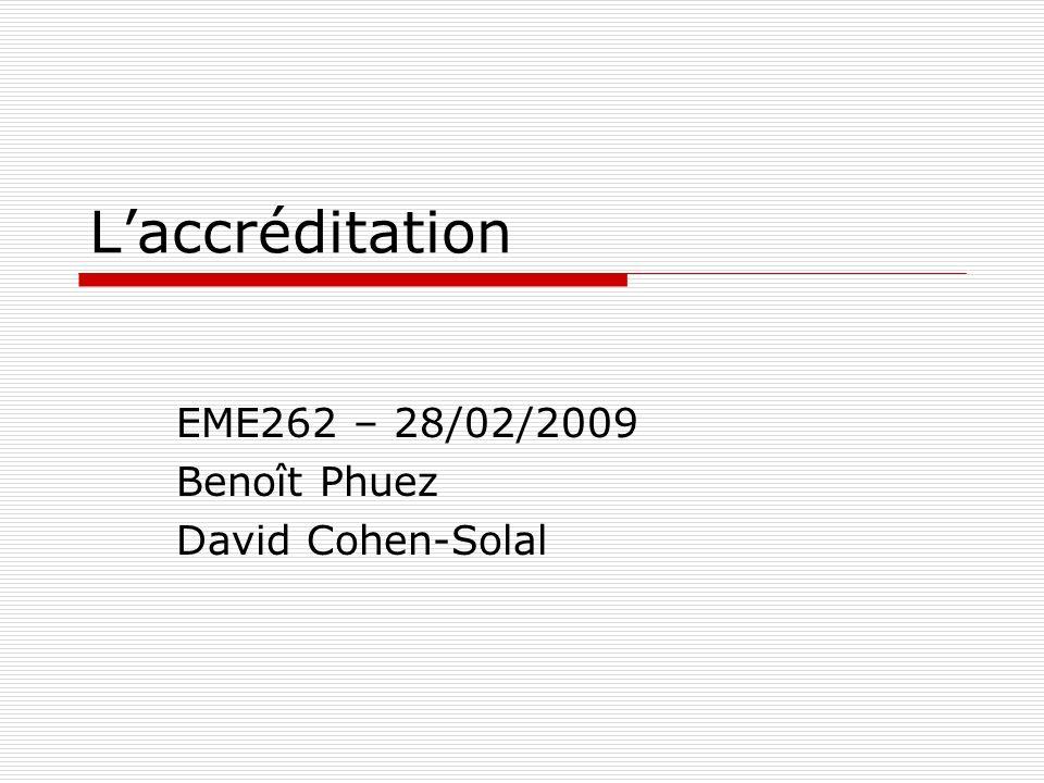EME262 – 28/02/2009 Benoît Phuez David Cohen-Solal