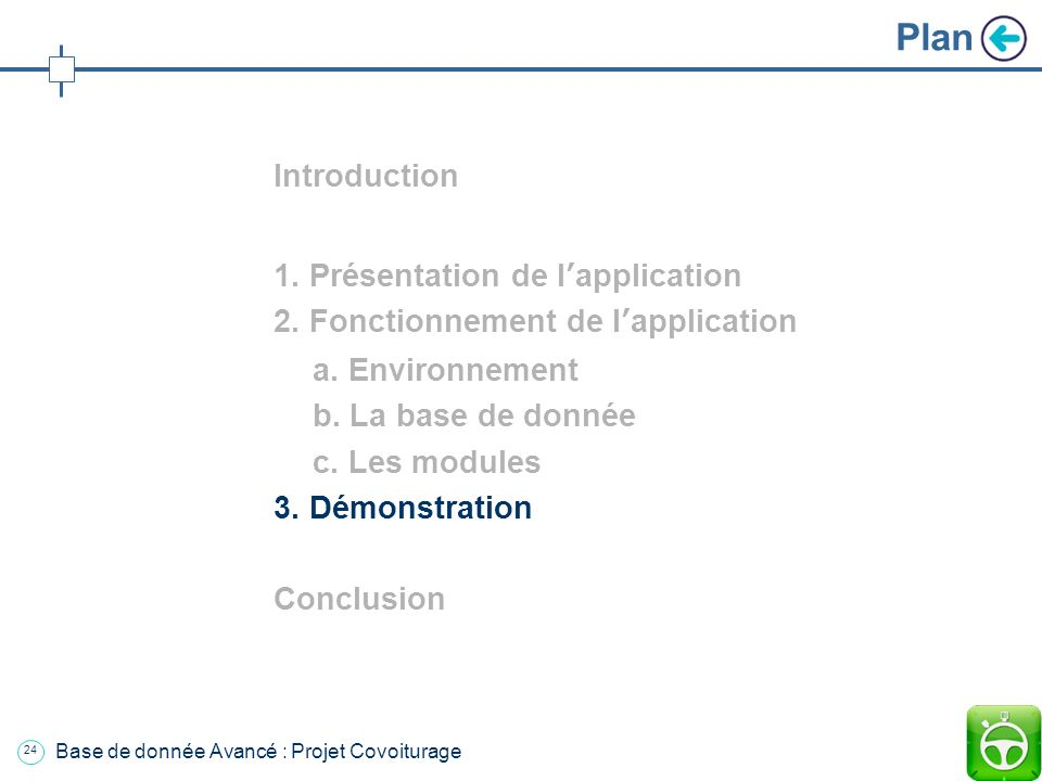 Plan Introduction 1. Présentation de l'application