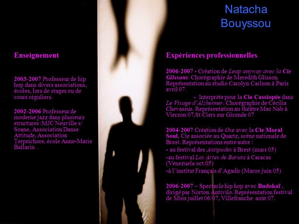 Natacha Bouyssou Enseignement