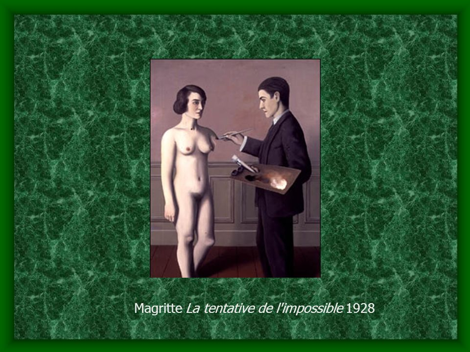 Magritte La tentative de l impossible 1928