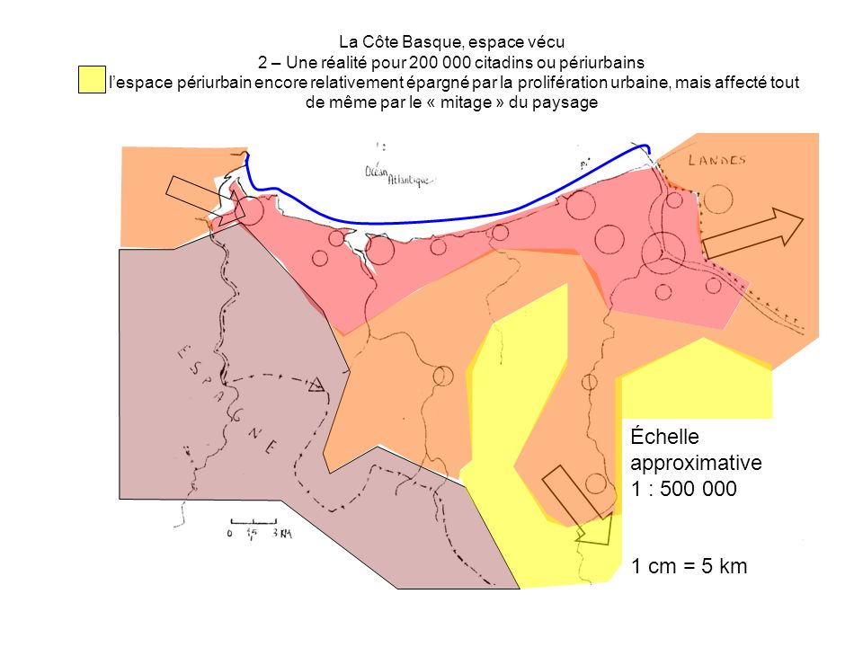 Échelle approximative 1 : 500 000
