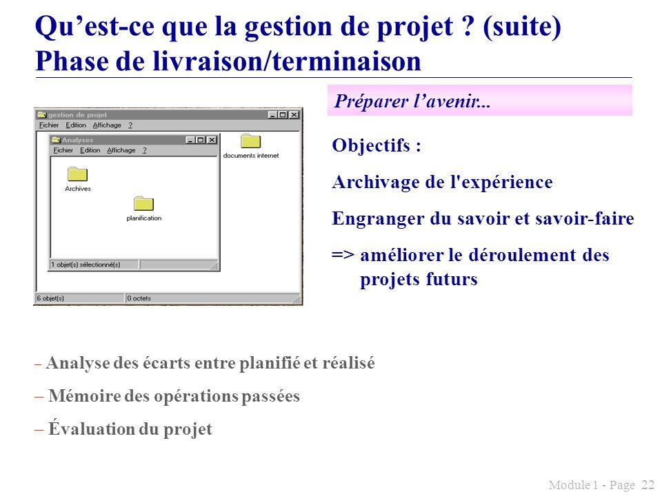 Qu'est-ce que la gestion de projet