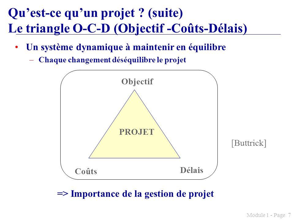 => Importance de la gestion de projet