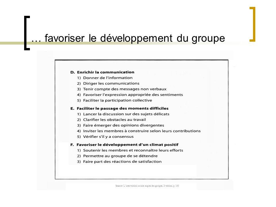 … favoriser le développement du groupe