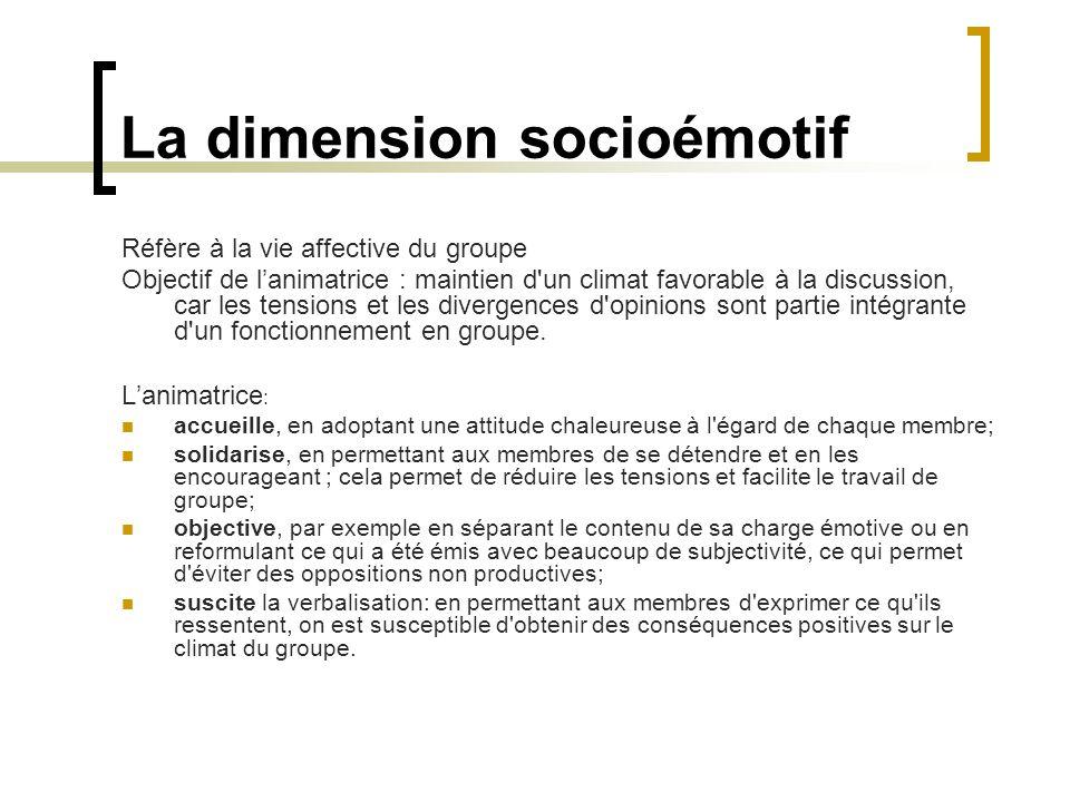 La dimension socioémotif