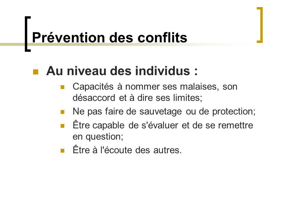 Prévention des conflits