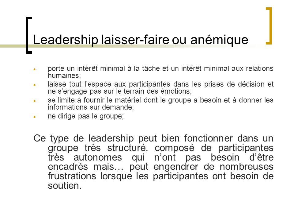 Leadership laisser-faire ou anémique