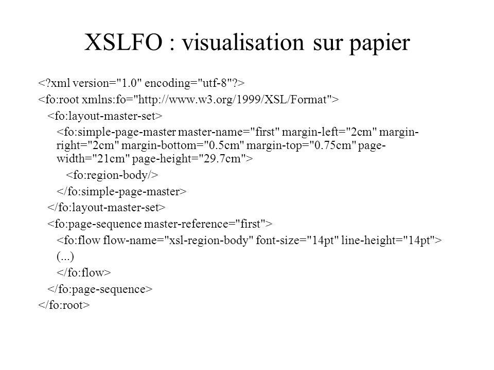 XSLFO : visualisation sur papier