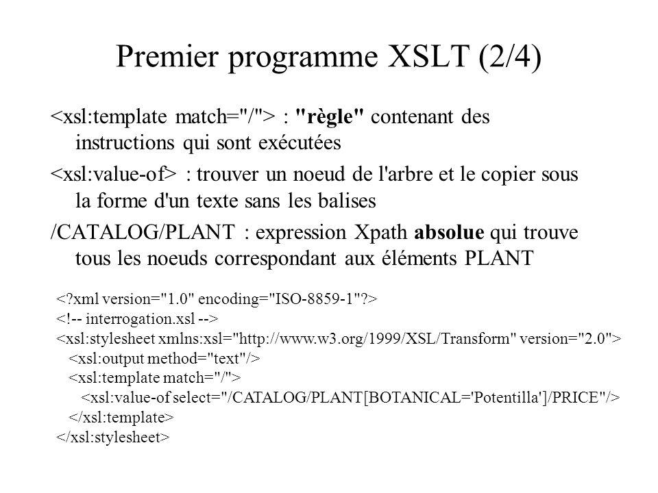 Premier programme XSLT (2/4)