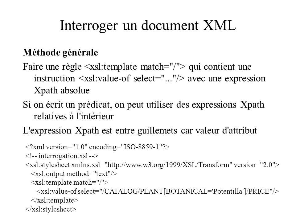 Interroger un document XML