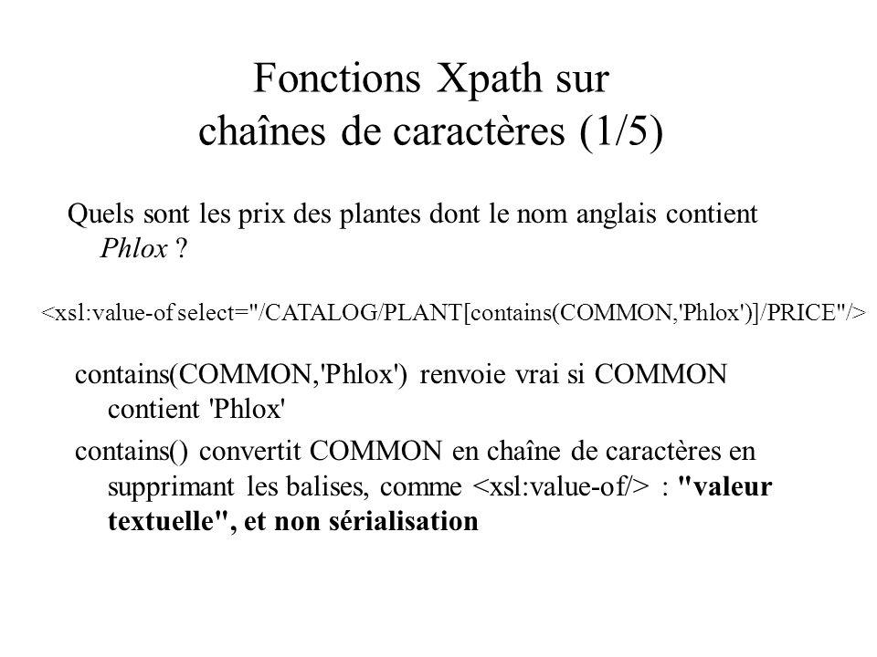 Fonctions Xpath sur chaînes de caractères (1/5)