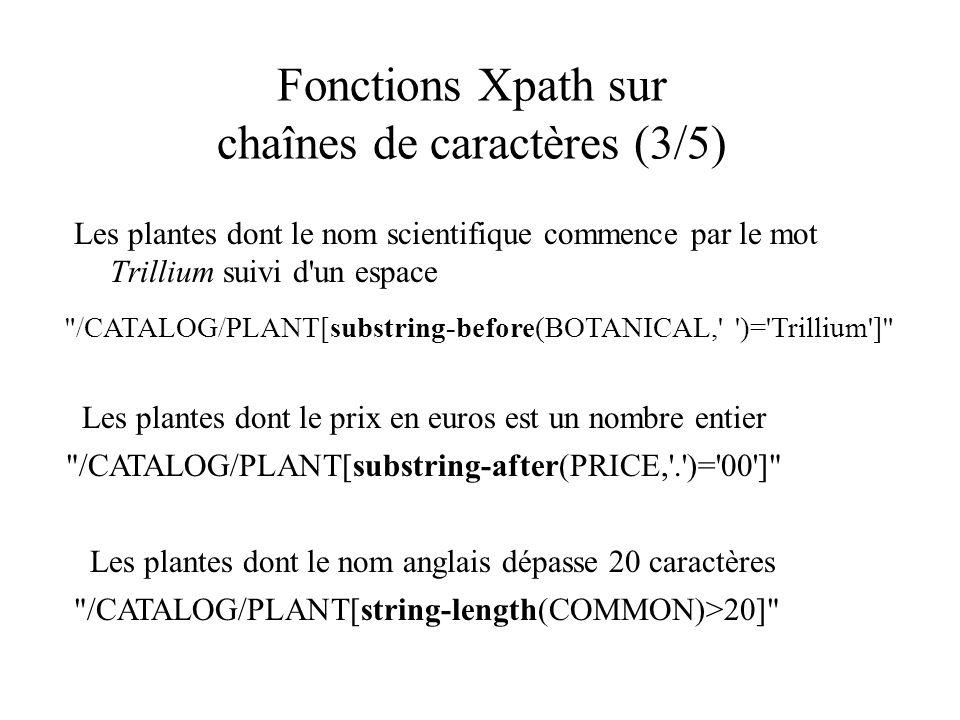 Fonctions Xpath sur chaînes de caractères (3/5)