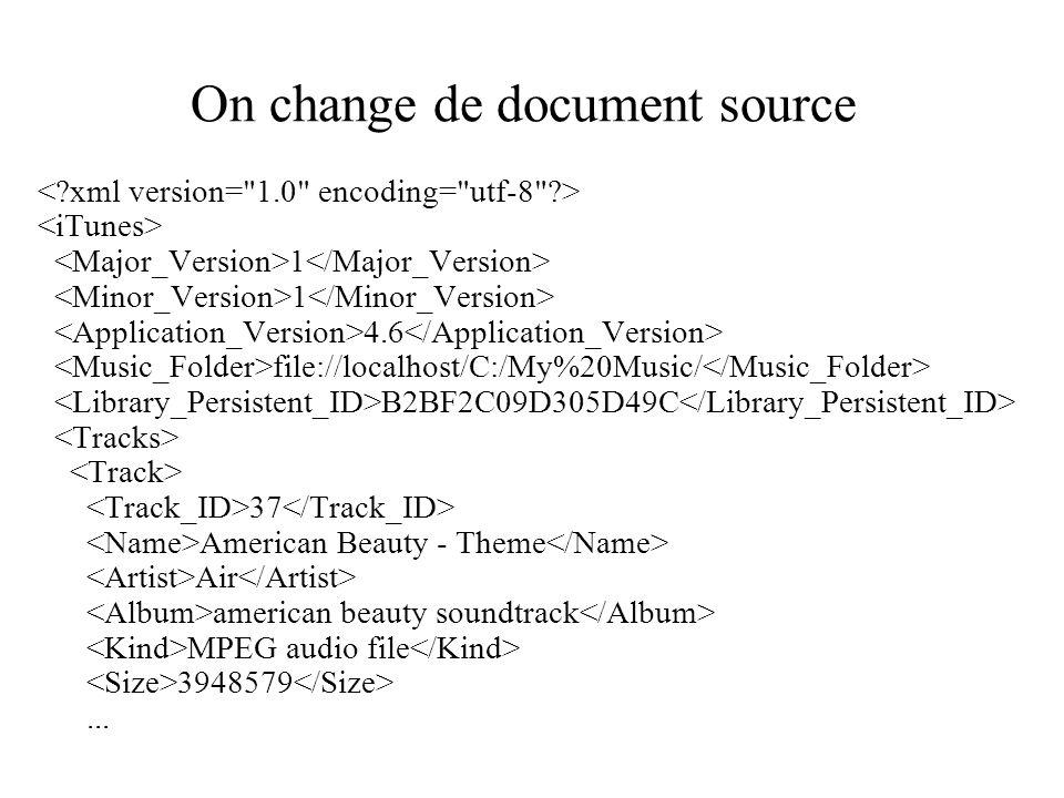 On change de document source