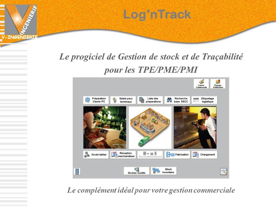 Log'nTrack Le progiciel de Gestion de stock et de Traçabilité