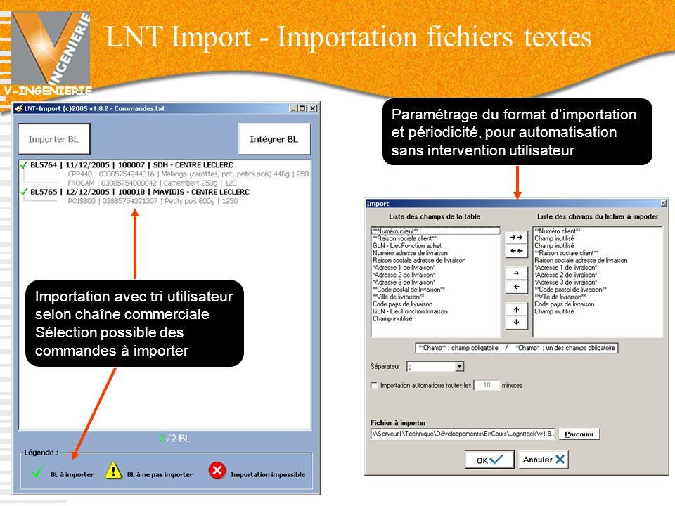 LNT Import - Importation fichiers textes