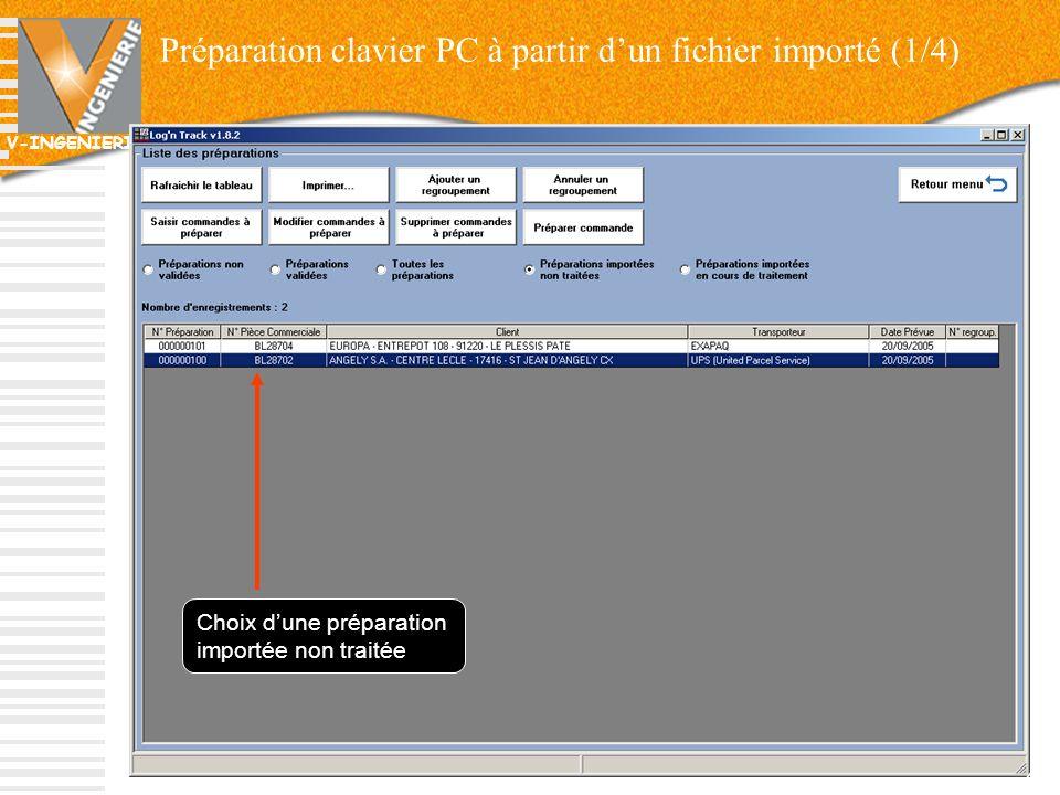 Préparation clavier PC à partir d'un fichier importé (1/4)