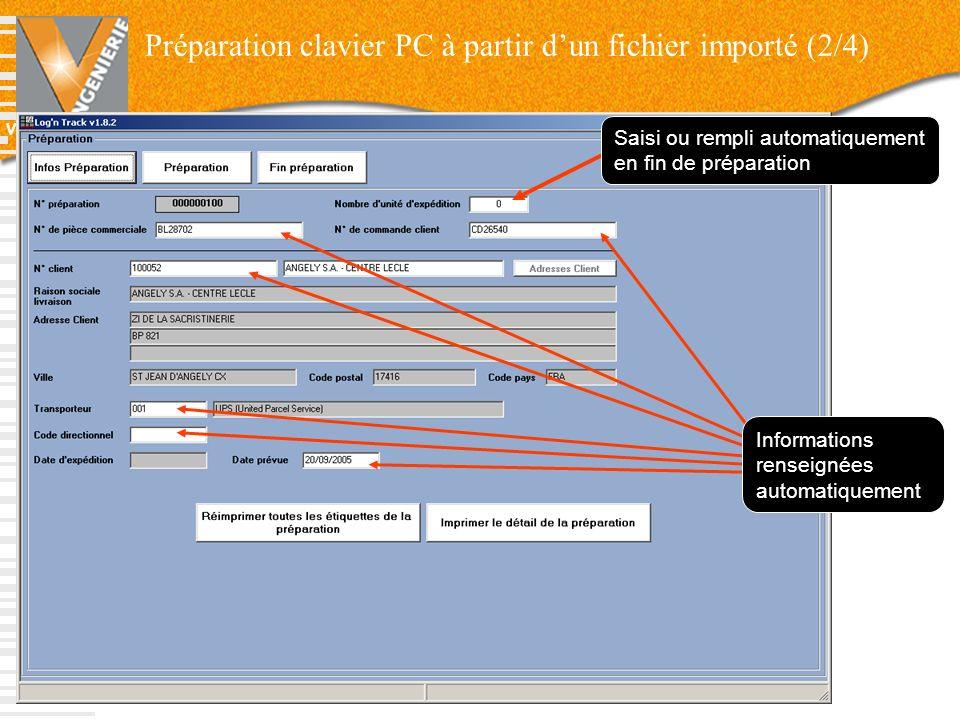 Préparation clavier PC à partir d'un fichier importé (2/4)