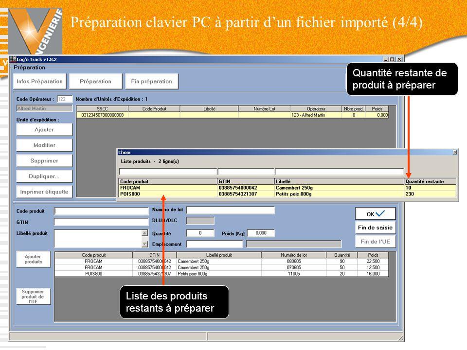Préparation clavier PC à partir d'un fichier importé (4/4)