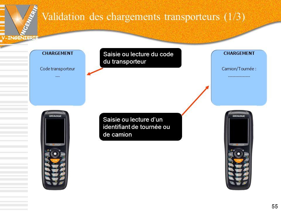 Validation des chargements transporteurs (1/3)