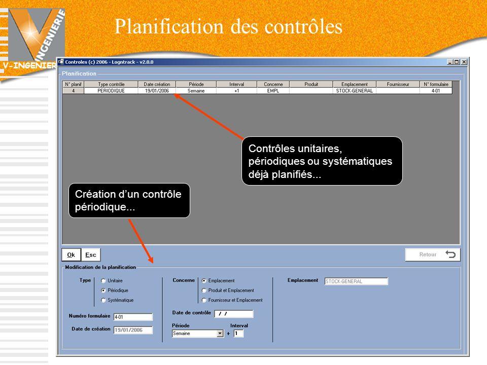Planification des contrôles