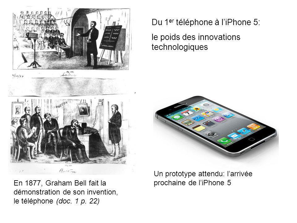 Du 1er téléphone à l'iPhone 5: le poids des innovations technologiques