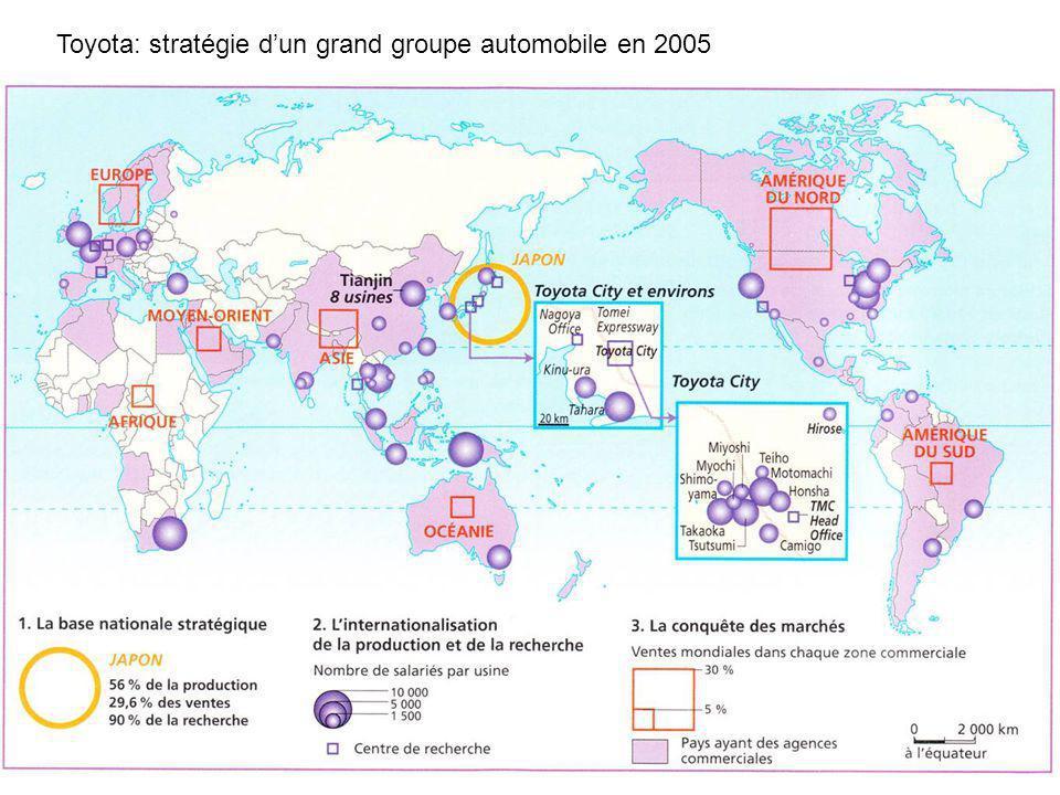 Toyota: stratégie d'un grand groupe automobile en 2005