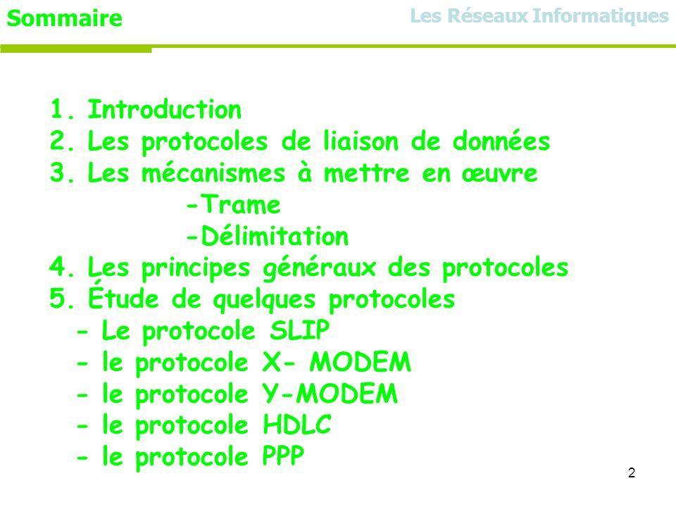 2. Les protocoles de liaison de données