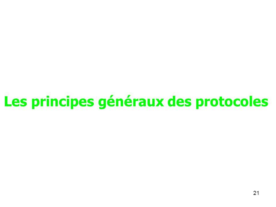 Les principes généraux des protocoles