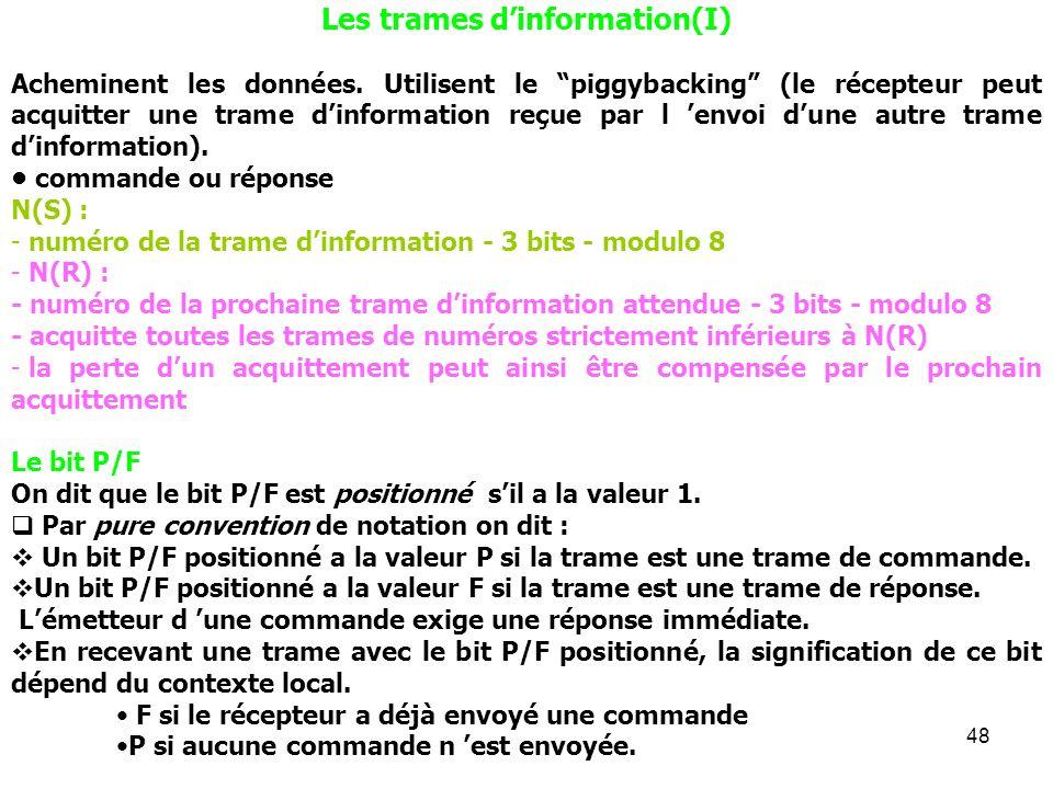 Les trames d'information(I)