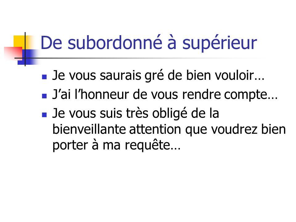 De subordonné à supérieur