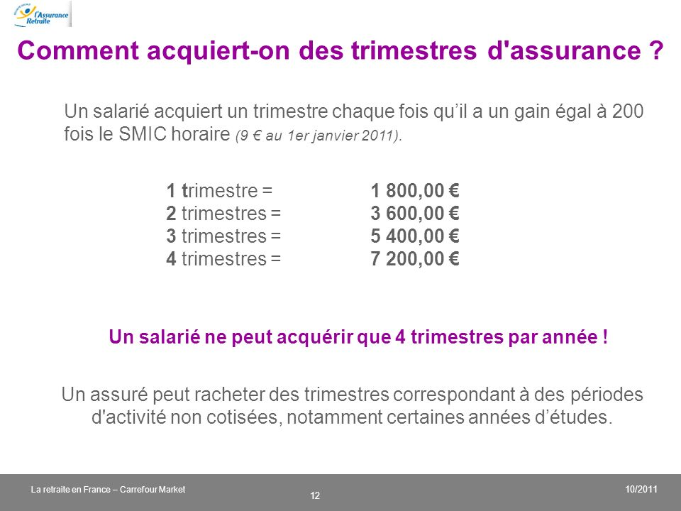 Comment acquiert-on des trimestres d assurance