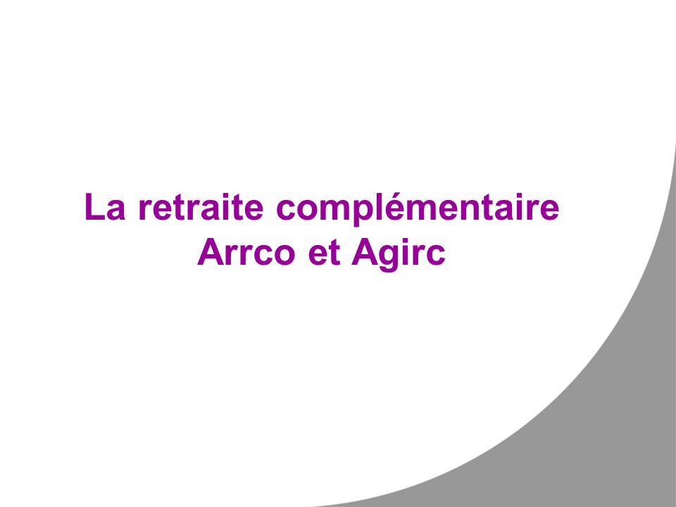 La retraite complémentaire Arrco et Agirc