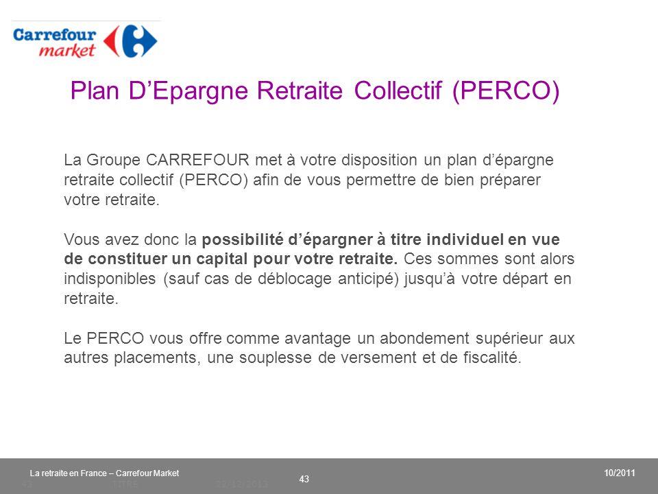 Plan D'Epargne Retraite Collectif (PERCO)